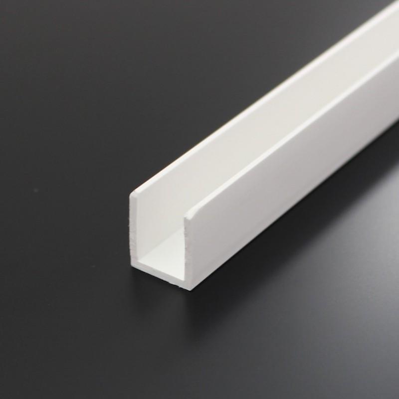 Bevorzugt U-profil HVID PVC til 10 mm plade VG99