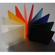 Frostet farvet akryl plastplade