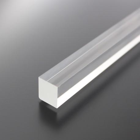 Akryl firkantstang klar/transparent